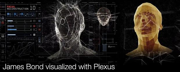 James Bond Visualized with Plexus