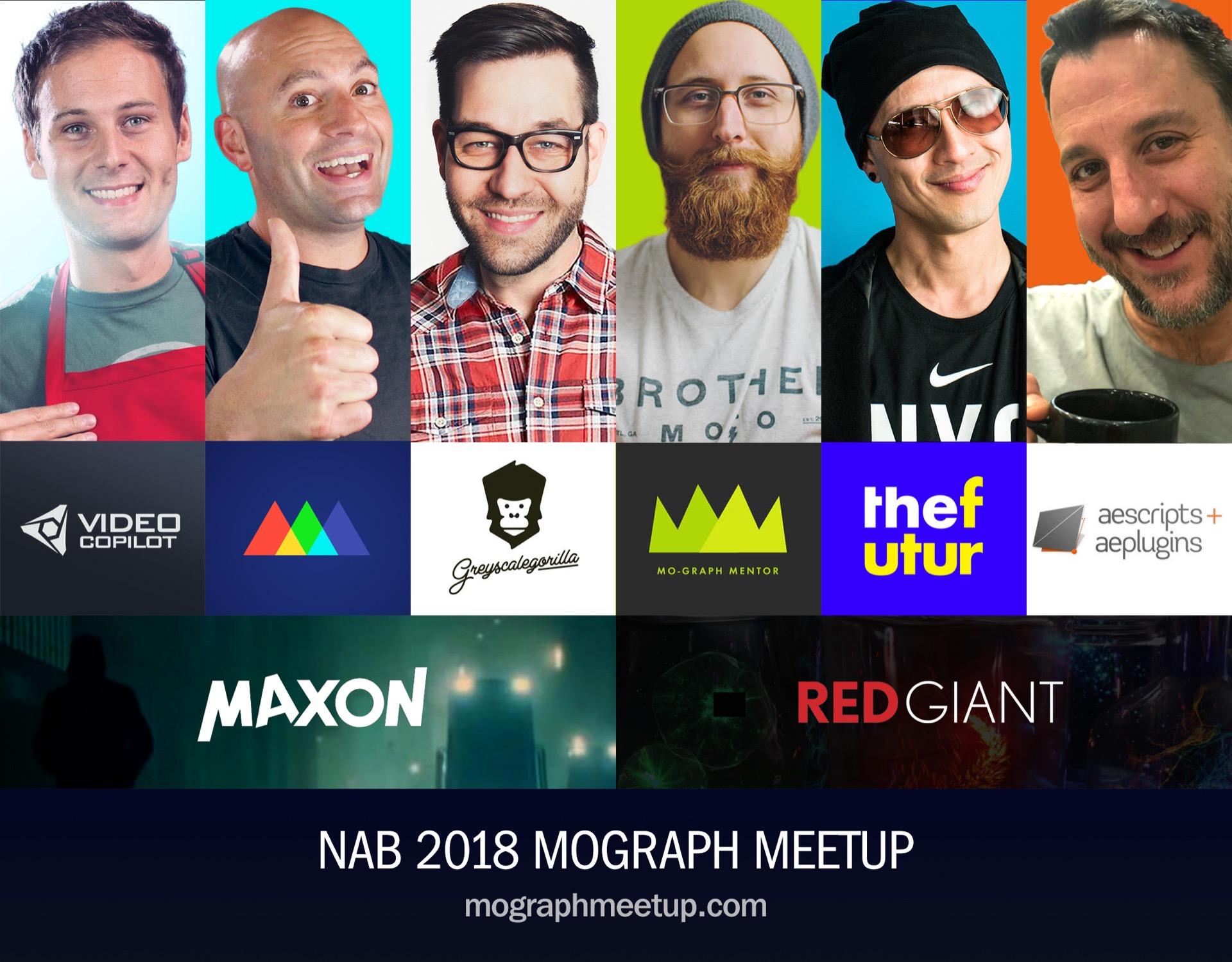 NAB 2018 MoGraph Meet-up - aescripts + aeplugins - aescripts com