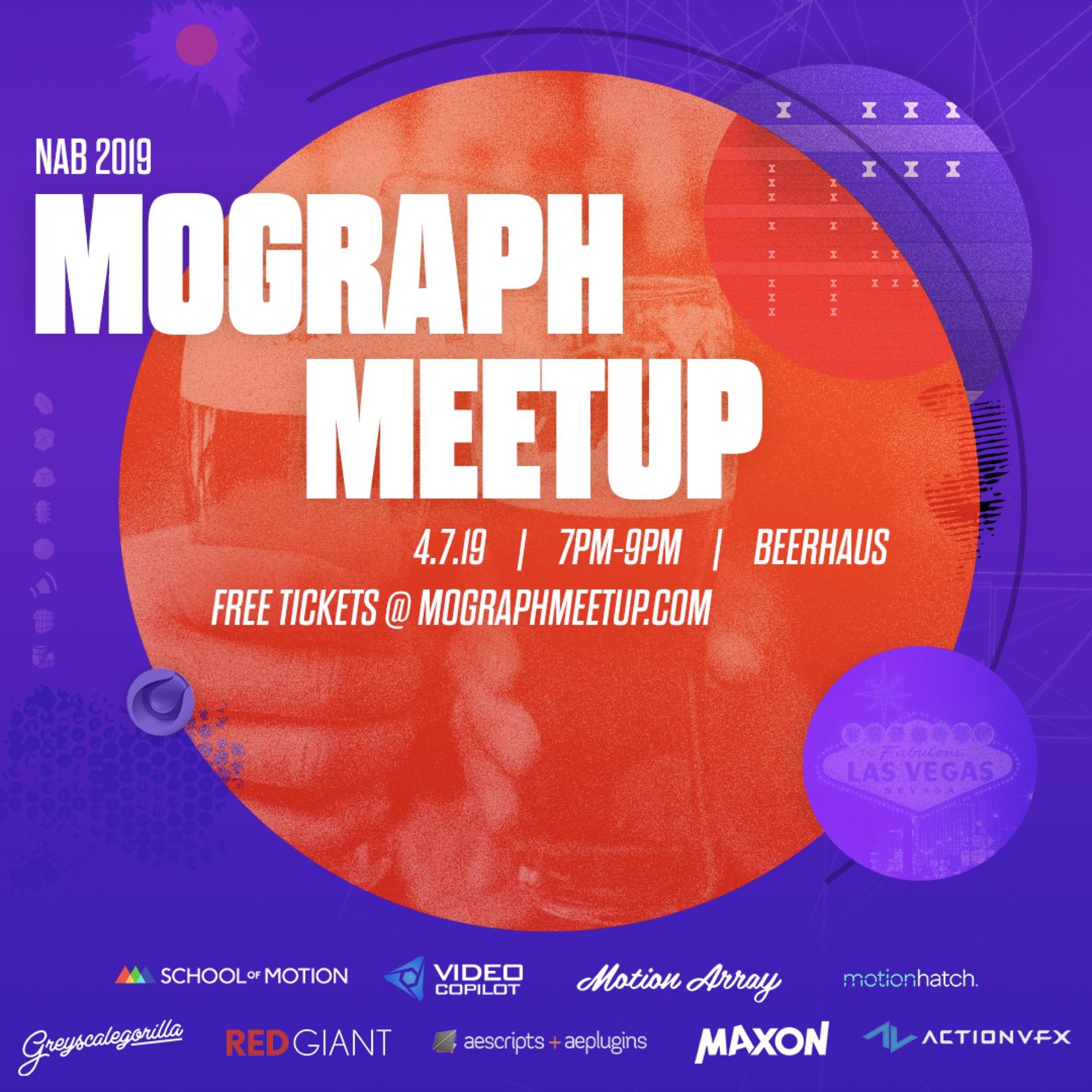NAB Mograph Meetup 2019 - aescripts + aeplugins - aescripts com