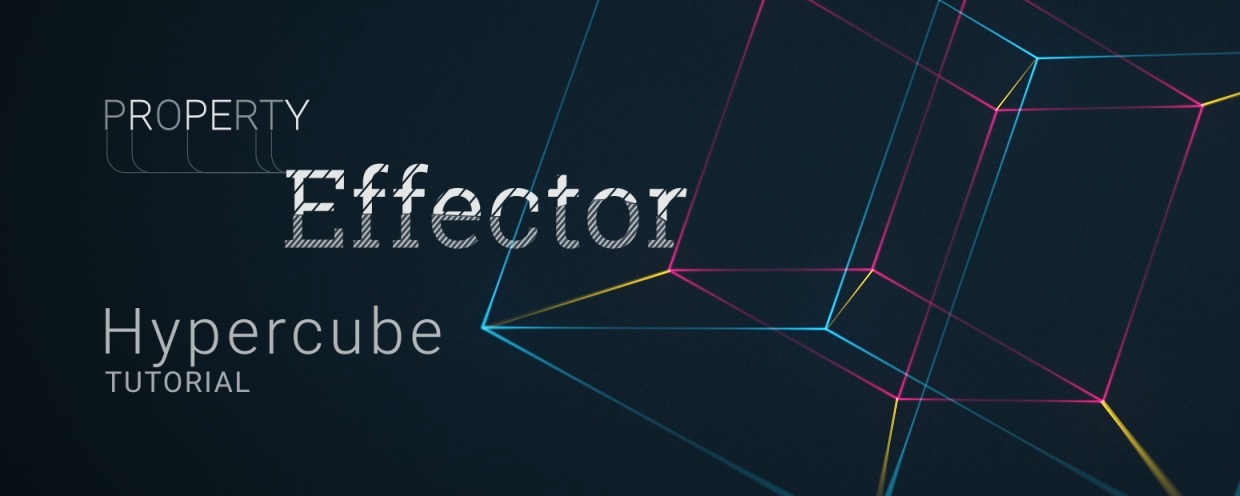 Using the power of Property Effector this tutorial will show you how to create an animated Hypercube using Shape Layers in #AfterEffects