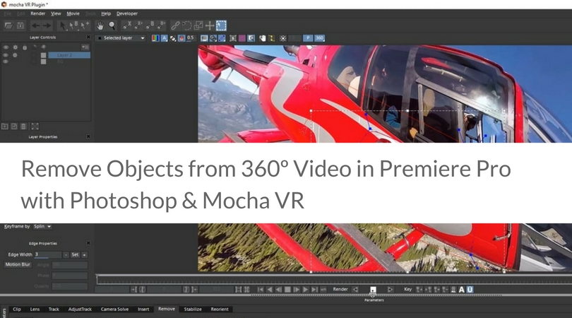 Remove Objects from 360º Video in Premiere Pro with