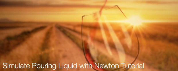 Simulate Pouring Liquid with Newton