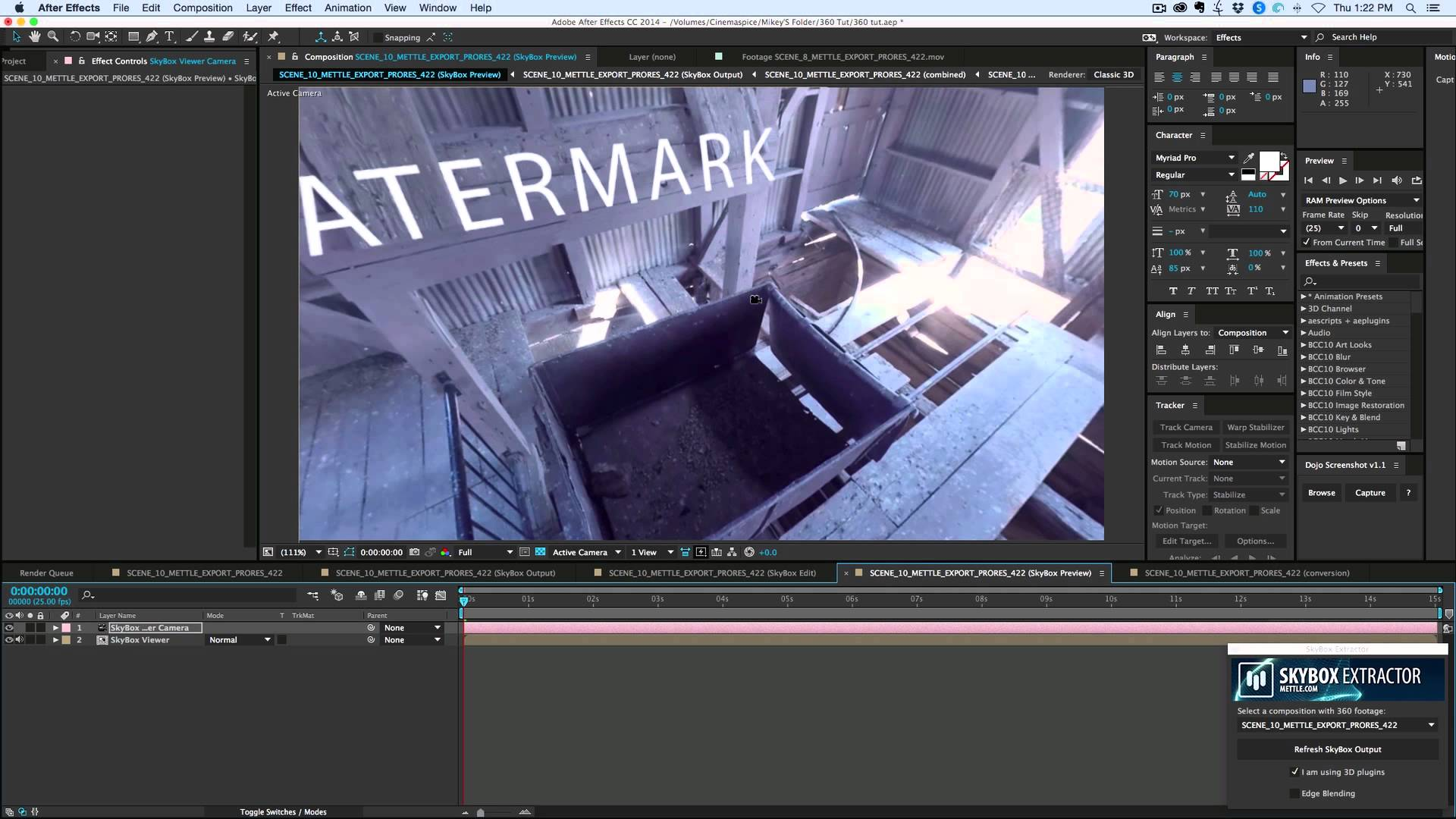 How To Add Effects In Video Using SkyBox Studio Aescripts - After effects template editing