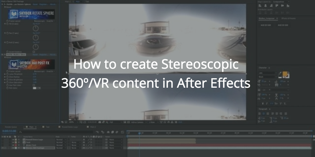 How to create Stereoscopic 360º/VR content in After Effects