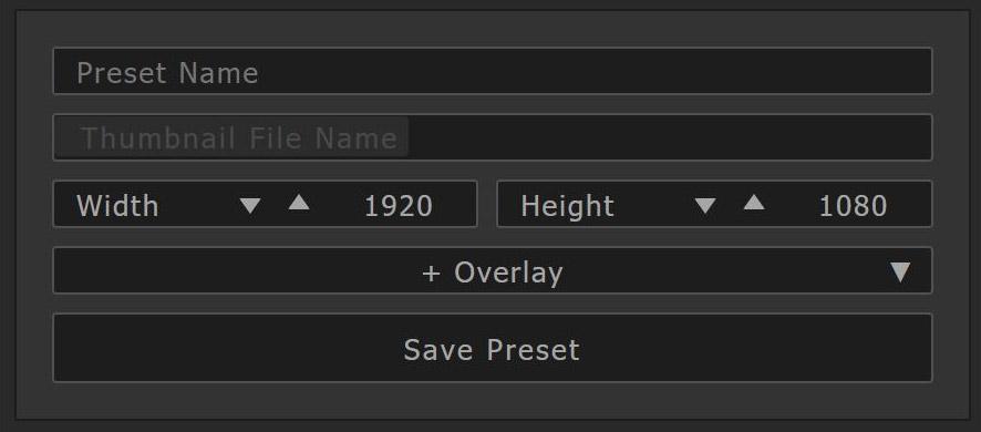 Preset Name Input Image