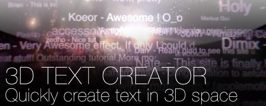 3D Text Creator