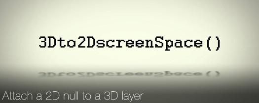 3D to 2D ScreenSpace - aescripts + aeplugins - aescripts com