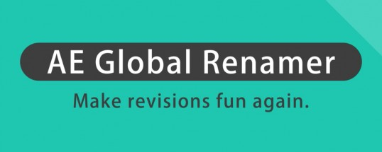 AE Global Renamer 2