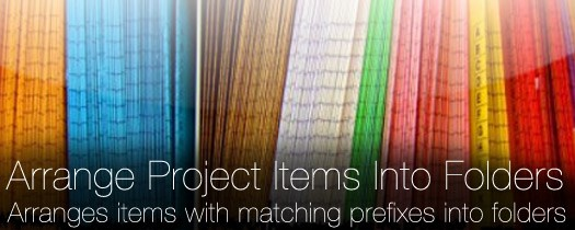 Arrange Project Items Into Folders