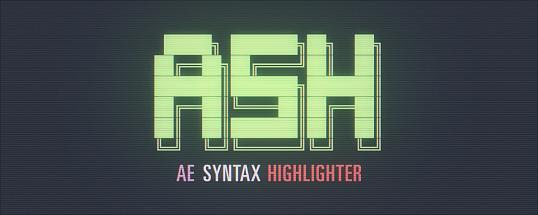 ASH Syntax Highlighter