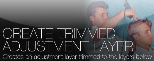 Create Trimmed Adjustment Layer