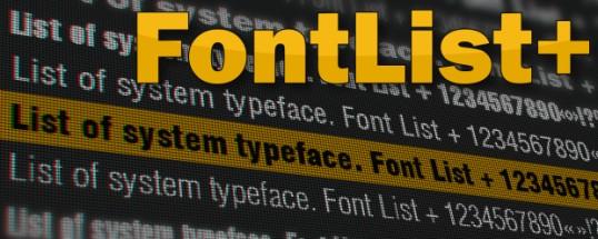 FontList Plus