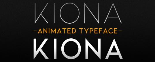 Kiona Animated Typeface