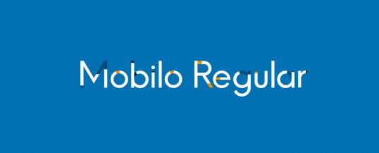 Mobilo Regular - Animated Typeface