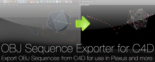 Plexus OBJ Sequence Exporter for C4D