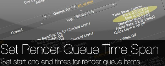 Set Render Queue Time Span