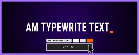 AM Typewrite Text