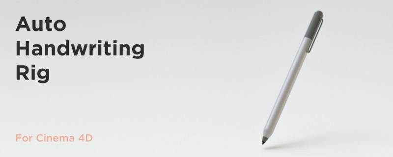 Auto Handwriting Rig for Cinema 4D - aescripts + aeplugins