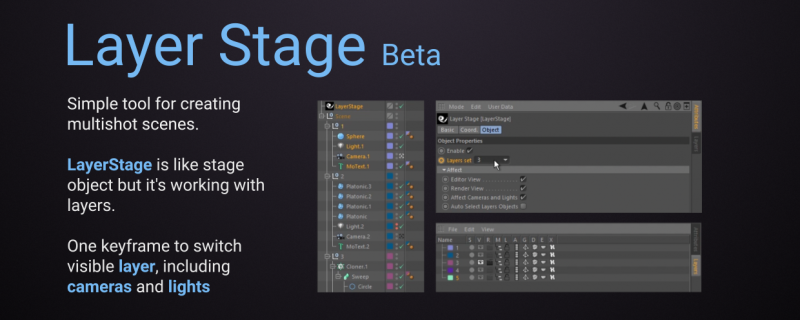 Layer Stage for Cinema 4D - aescripts + aeplugins - aescripts com