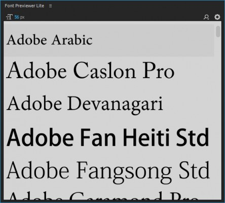 Change preview font size