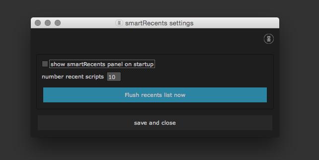 smartRecents settings