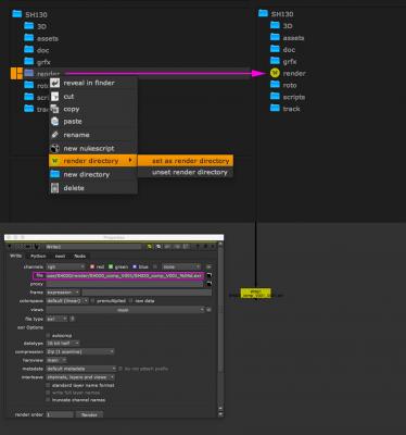 create default render directories with already set up write nodes