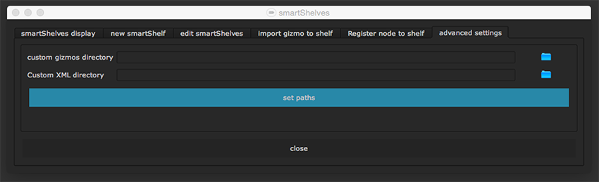 smartShelves offers some advanced settings to customize the gizmo paths to your needs