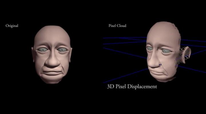 3D pixel displacement