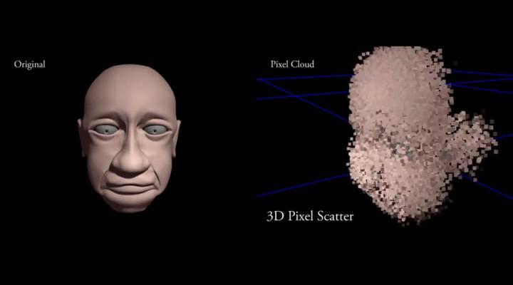 Adjustable 3D pixel scatter