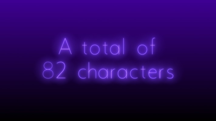 82 characters