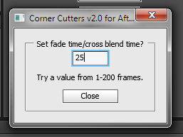 Setting blend time by SHIFT clicking.