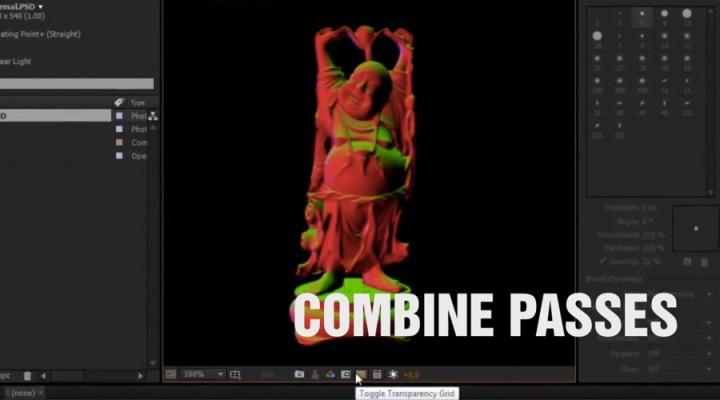 Combine several render passes
