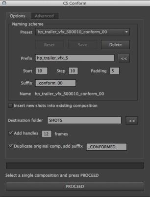 CS Conform v1.2 Basic Options