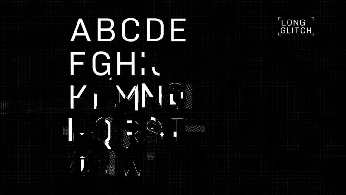 data damage animated typeface free download