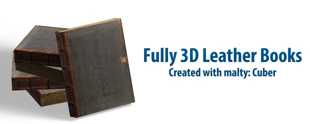 3D Leather Books