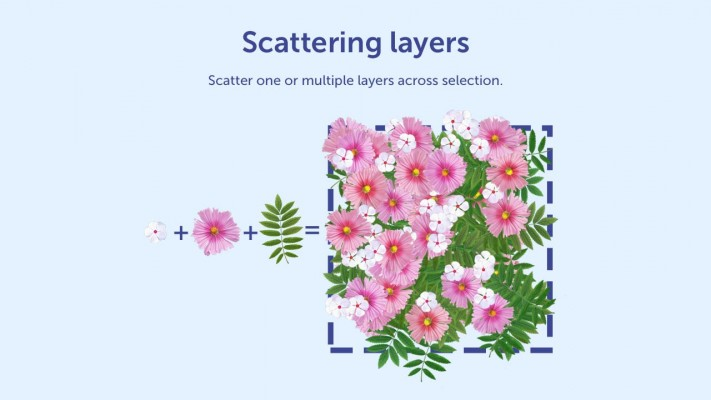 Scatter across selection
