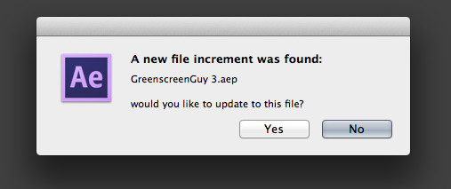 File increment found