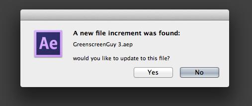 File increment found