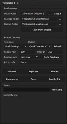Templater Main ScriptUI Panel