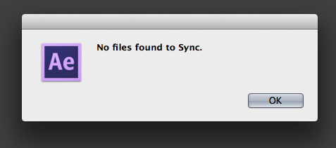 No Files found to Sync