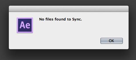 No Files found to Sync