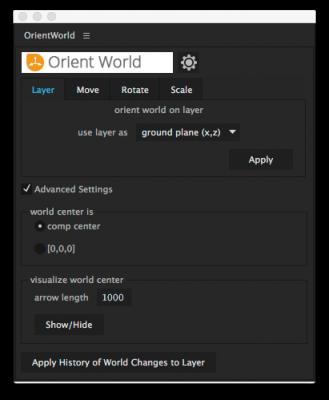 user interface -advanced settings
