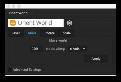 user interface - move world