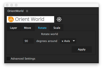 user interface - rotate world