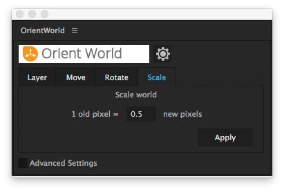 user interface - scale world