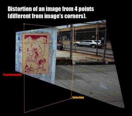 Perspective change on whole image