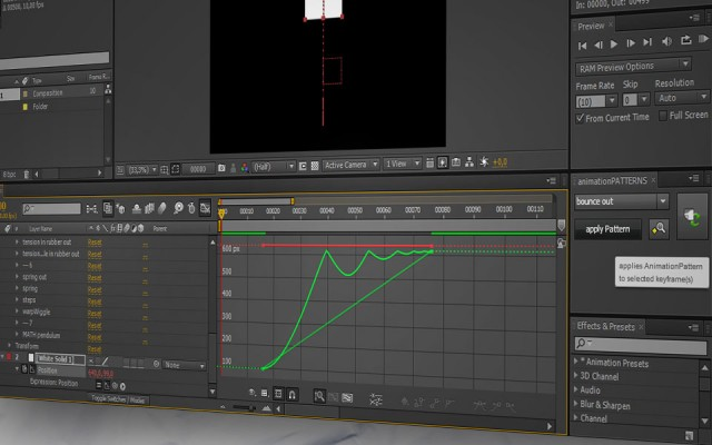 animation with applied pattern