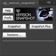 qp Version Snapshot main UI panel