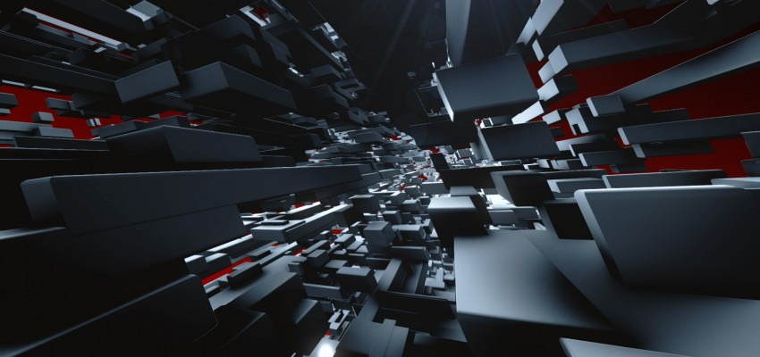 100 quadrateFX boxes used as a source to generate 16.200 3D boxes in Element3D
