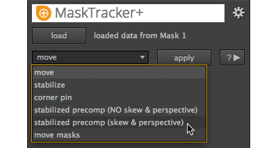 MaskTracker+ UI details